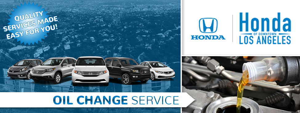 ... Oil Change Service Information At Honda Of Downtown Los Angeles Near  Glendale