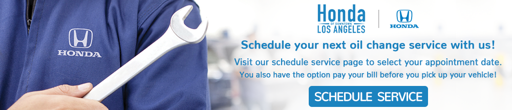 Schedule your next oil change service at Honda of Downtown Los Angeles