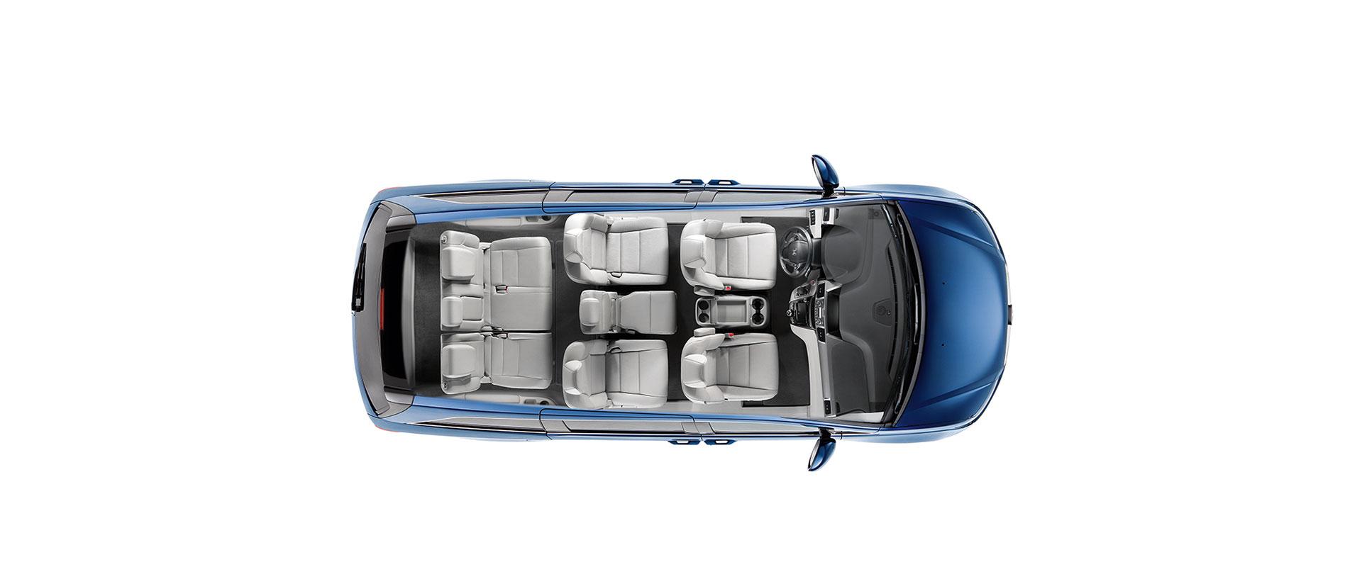 2017 Honda Odyssey Wide-Mode 2nd-Row Seats