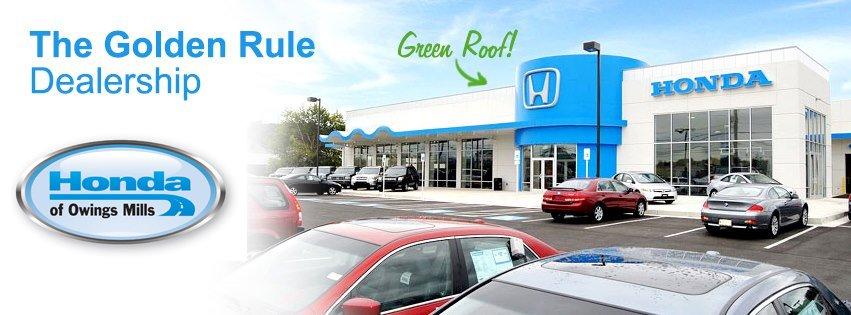 Honda Of Owings Mills Green Roof Honda Of Owings Mills