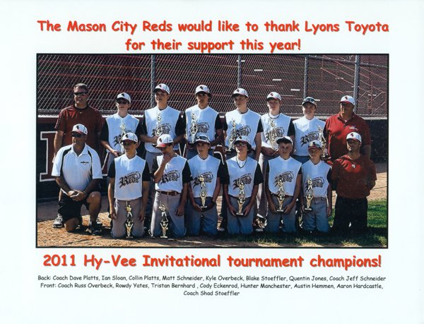 Sports sponsorships hosmer toyota mason city ia 50401 for Community motors mason city