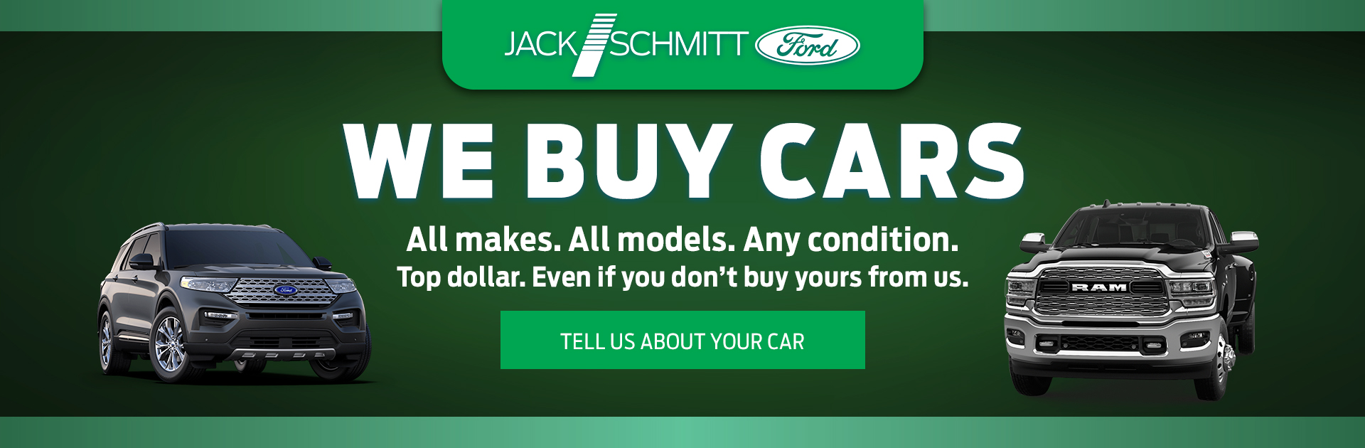 We Buy Cars Spring Banner
