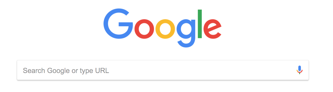 Google's classic search bar.