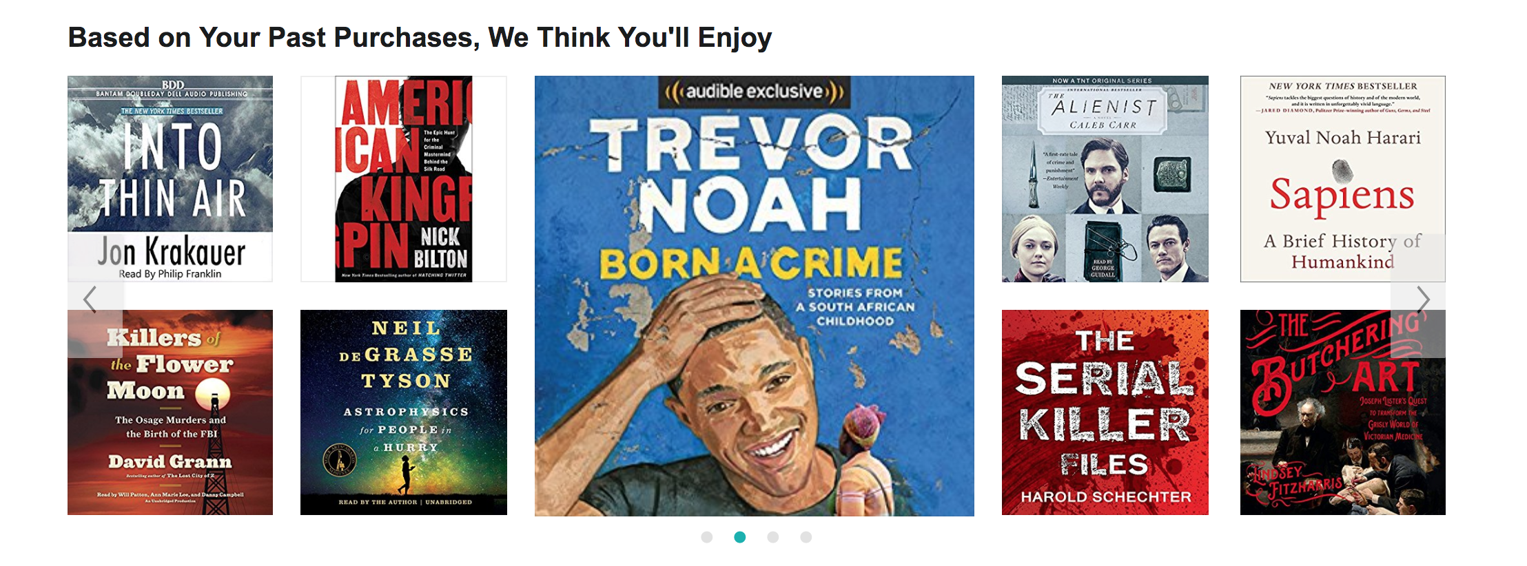 Audible's recommendations.