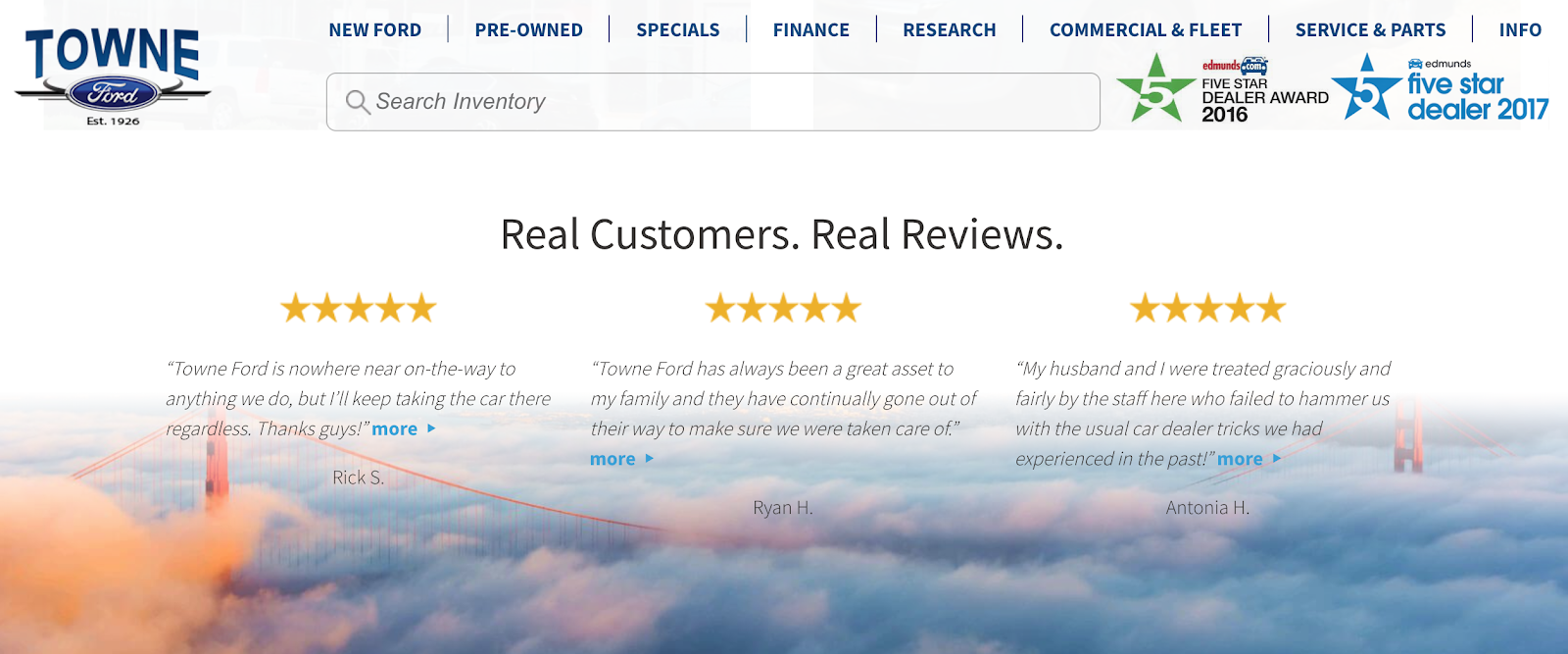 a website review example