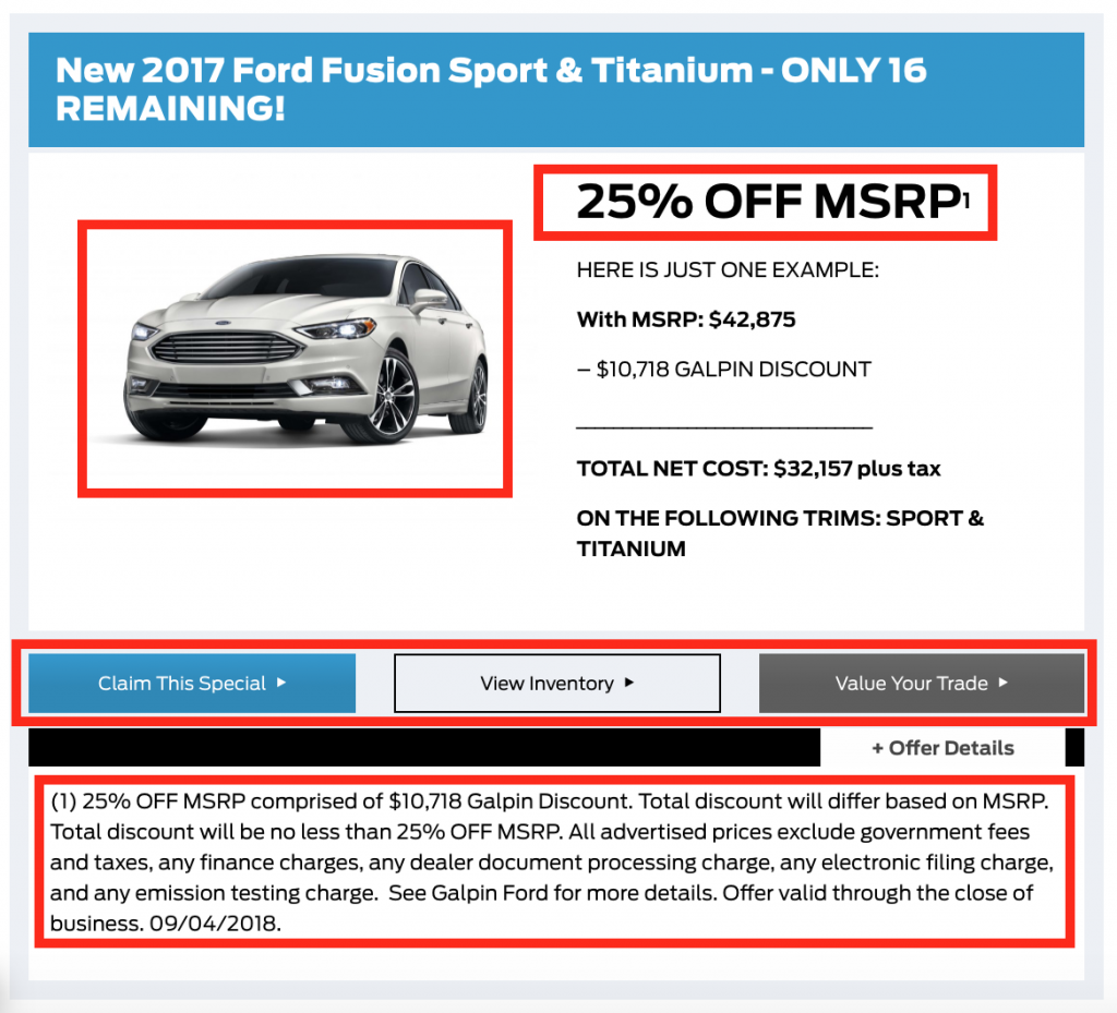 good dealership marketing hinges on good-looking specials.