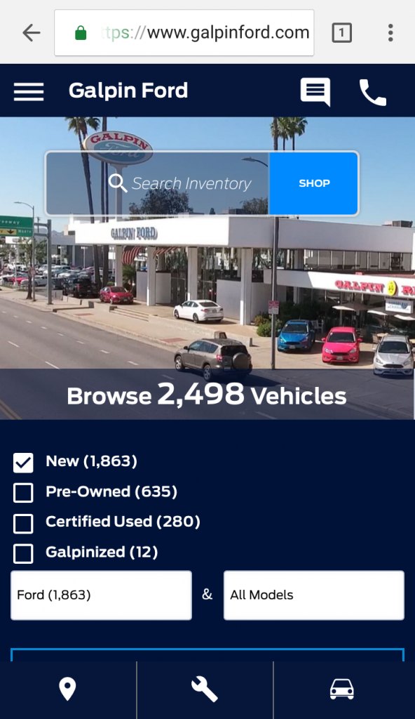 AMP capable dealership website results