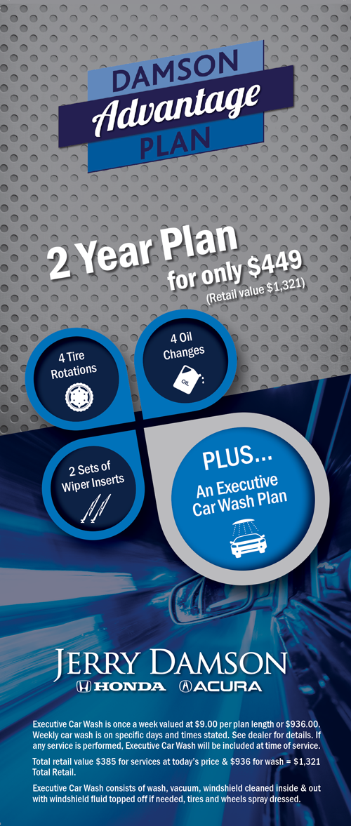 We Will Vacuum Your Car And Put Tire Shine On Your Wheels! All At A 60%  Discount! Ask An Associate Today About The DAMSON ADVANTAGE PLAN!