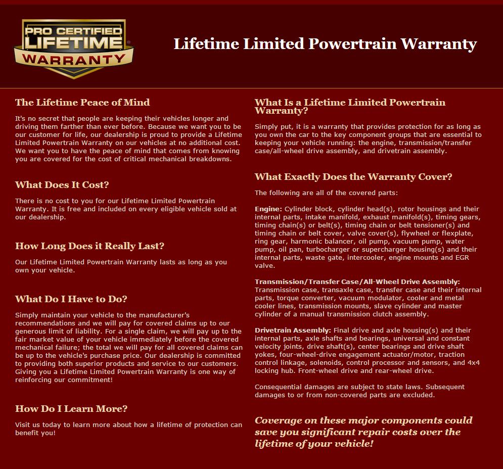 Powertrain Warranty Coverage >> Nissan Lifetime Limited Powertrain Warranty John Sinclair