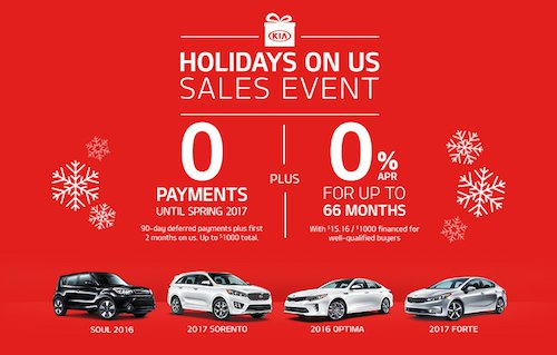 Kia Holidays on Us Sales Event