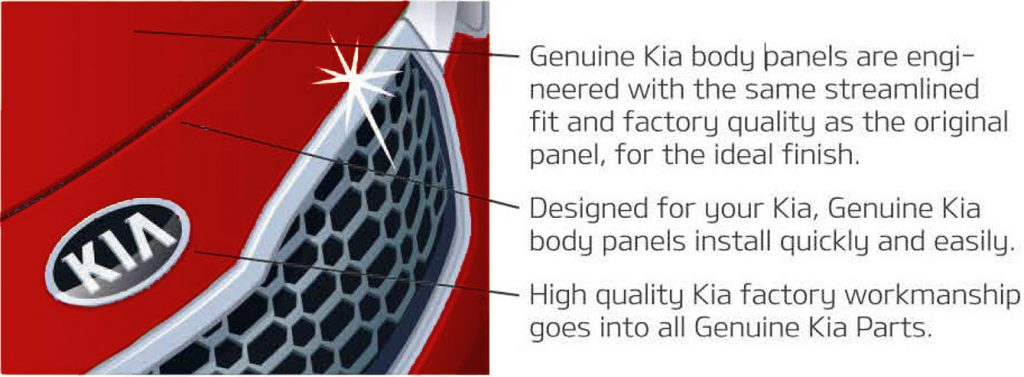 genuine kia body panels