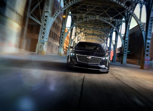 2019 Cadillac CT6-V driving through tunnel