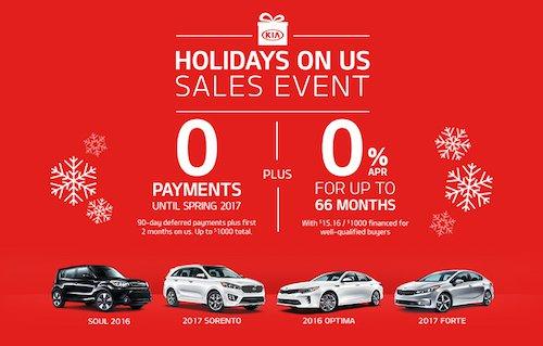 Kia Holidays on Us Sales Event