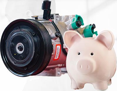 piggy bank with starter motor