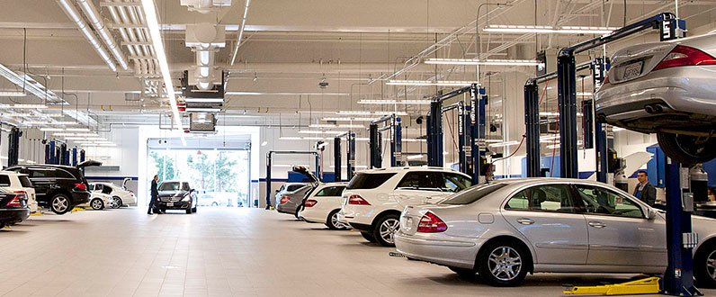 Mercedes benz collision center auto body shop in van for Mercedes benz dealer van nuys