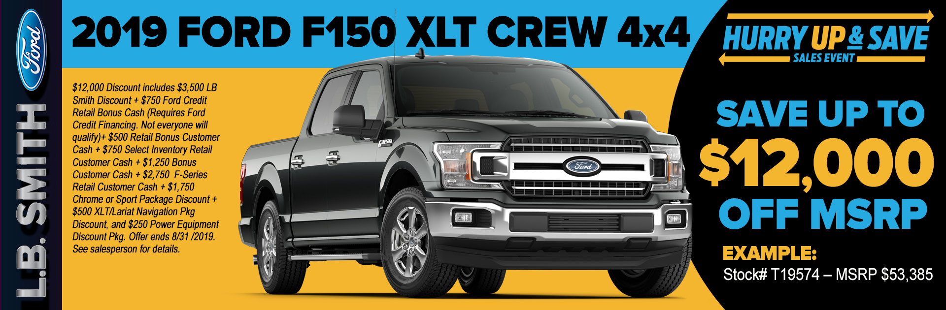 2019 Ford F150 Special