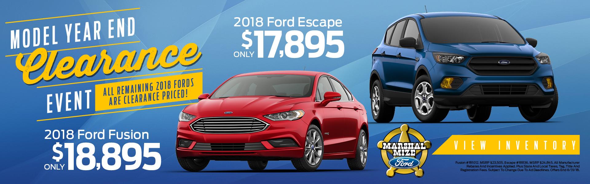 Ford Fusion & Ford Escape