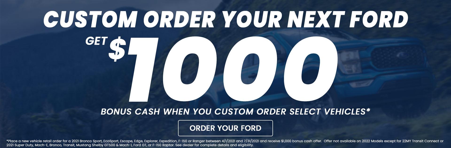 Custom Order Rebate Hero