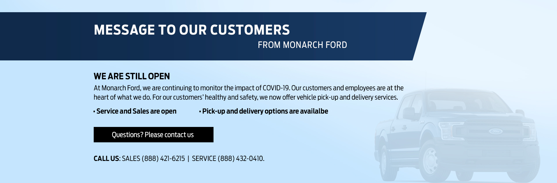 Monarch Ford Covid19 Banner