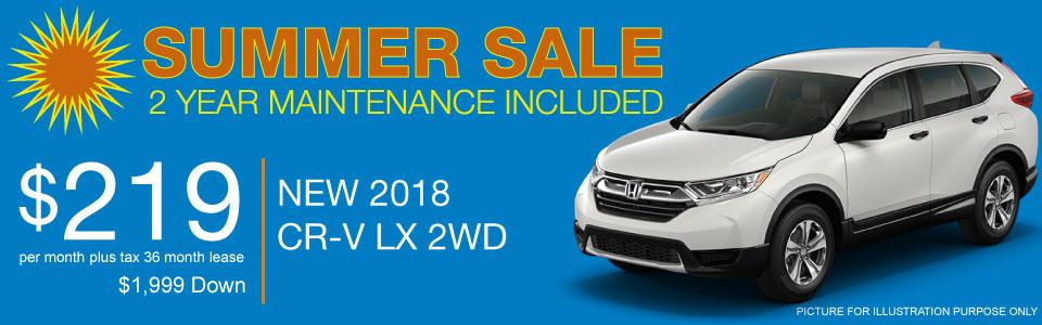 CR-V Summer Sale
