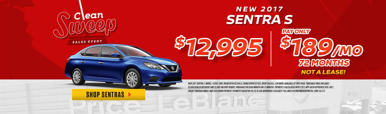 Nissan Sentra Clean Sweep
