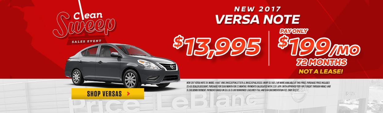 Nissan Versa Clean Sweep