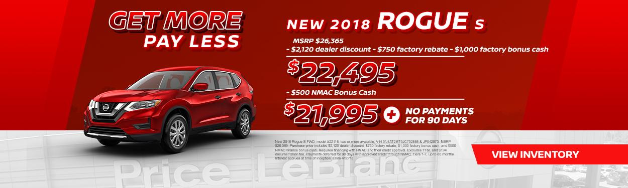 2018 Rogue Sale