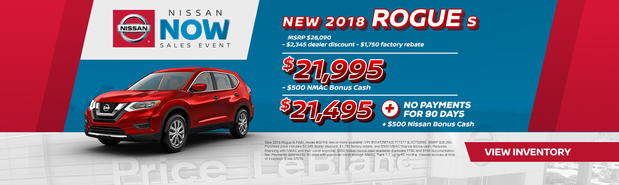 2018 Nissan Rogue Sale