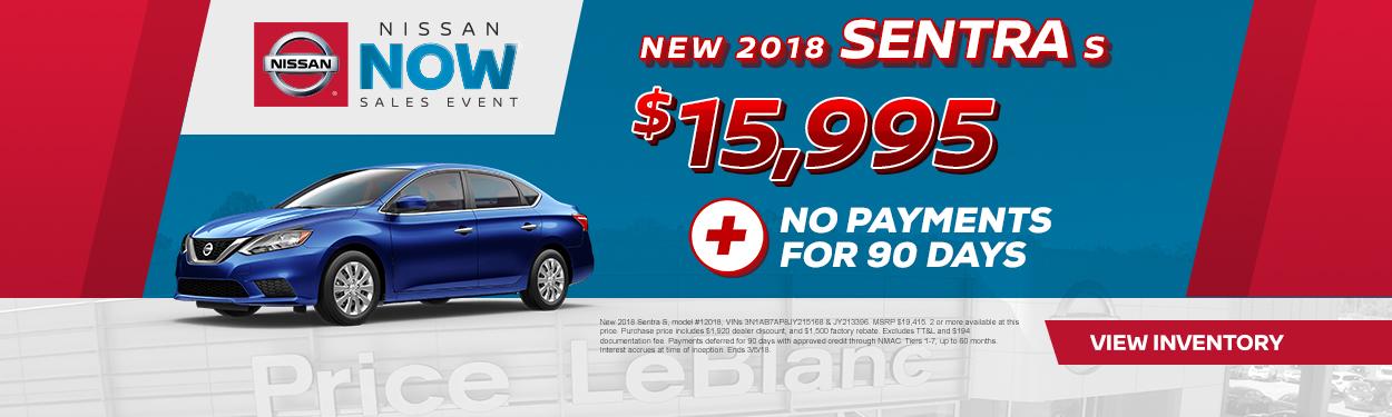 2018 Nissan Sentra Sale