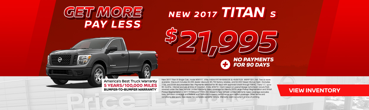 2017 Titan Sale