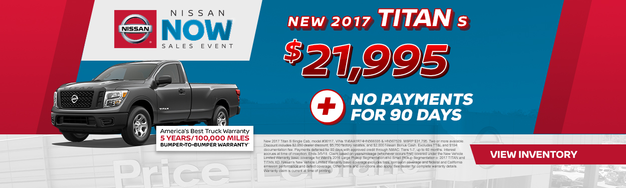 2017 Nissan Titan Sale