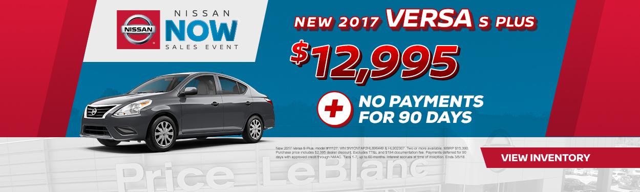 2017 Nissan Versa Sale