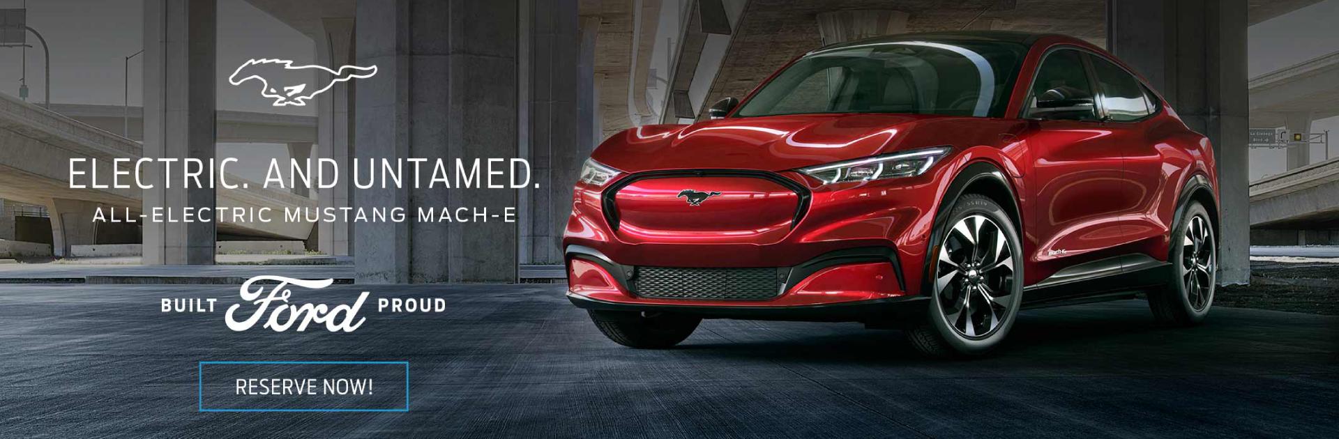 Mach E Red1 - All Electric Car
