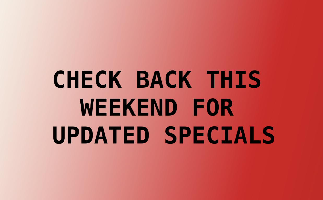 Announcement for Weekend Special