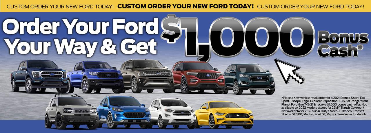 Start a Custom Order - Red Bronco Sport