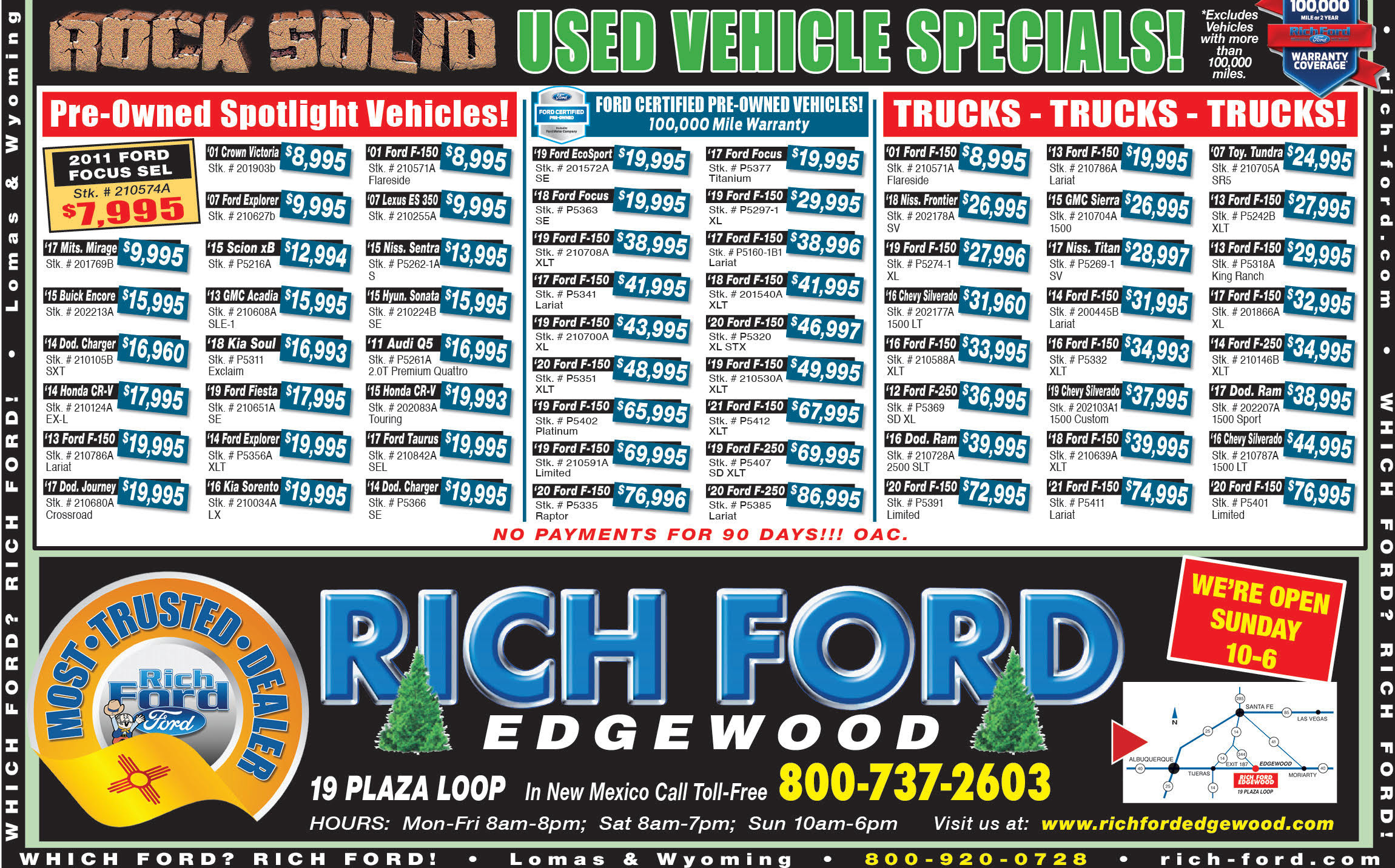 Rich Ford Edgewood Used Vehicle Weekly Special