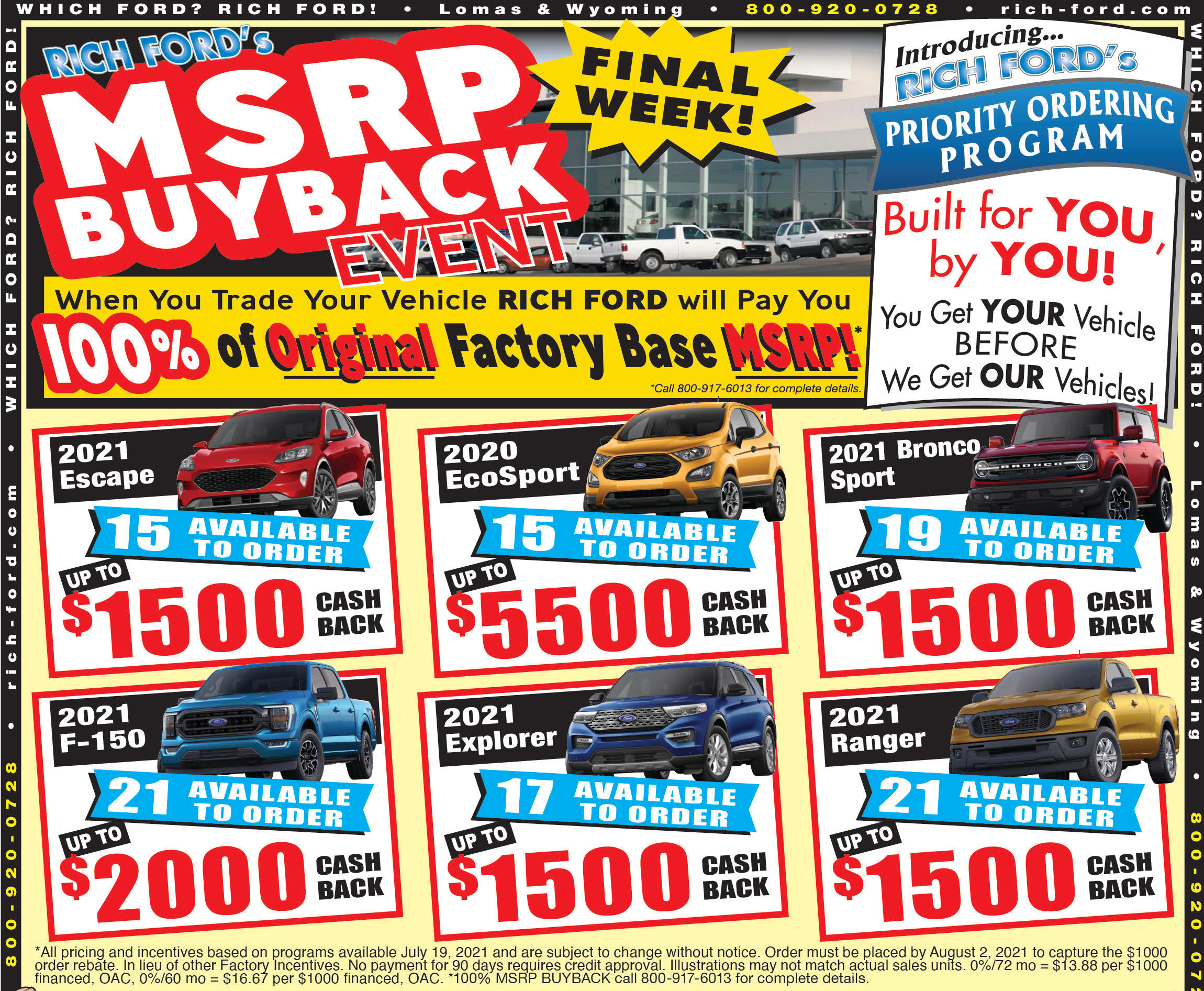 Rich Ford Edgewood New Vehicle Weekly Special
