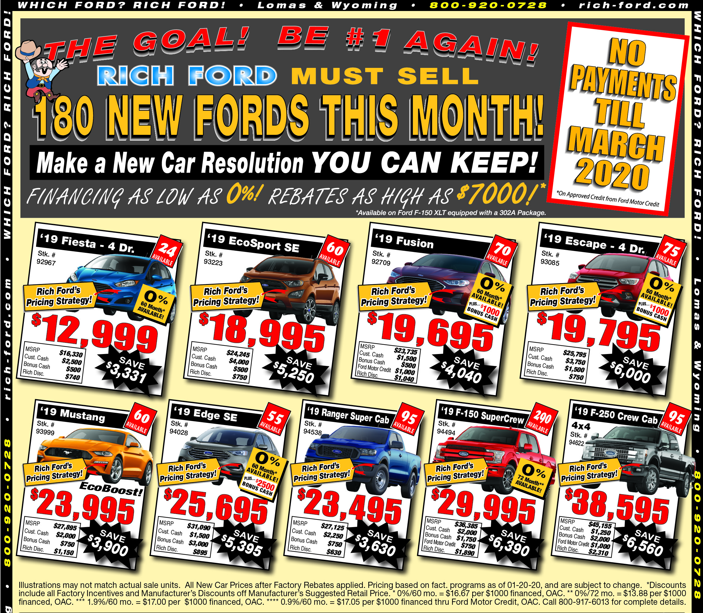 Rich Ford New Vehicle Weekly Special