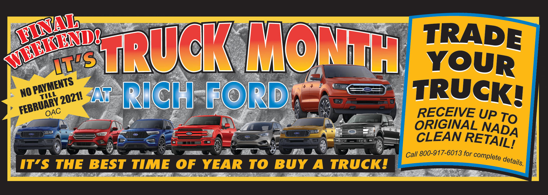 Rich Ford Sales Banner