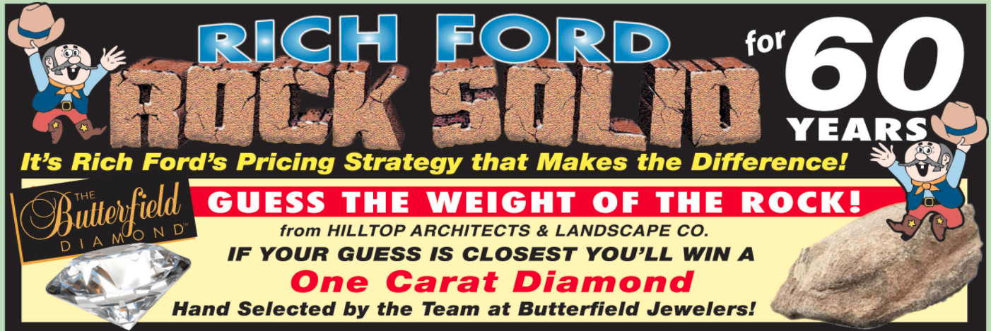 Rich Ford Weekly Sales Banner