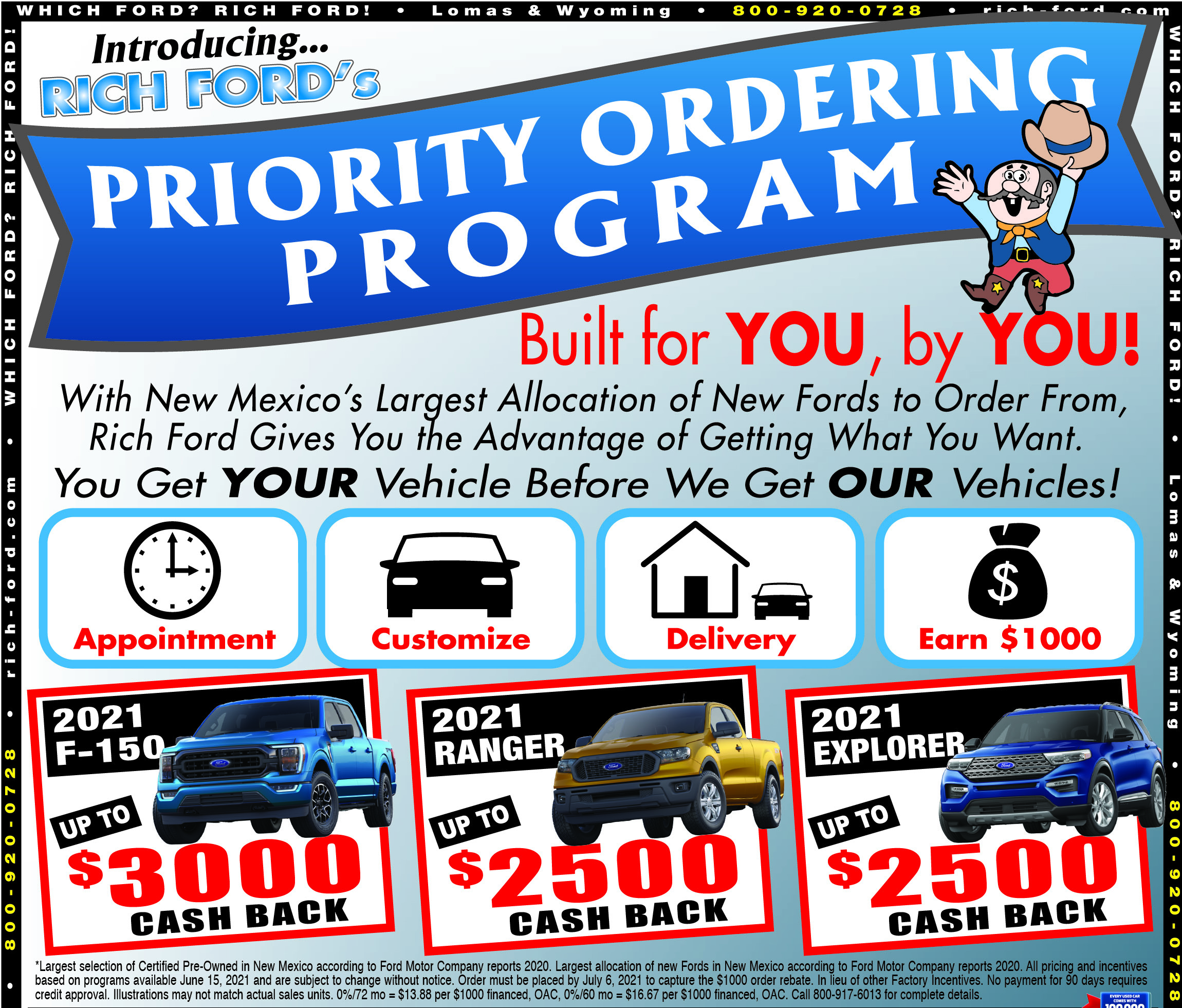 Rich Ford New Vehicle Weekly Specials