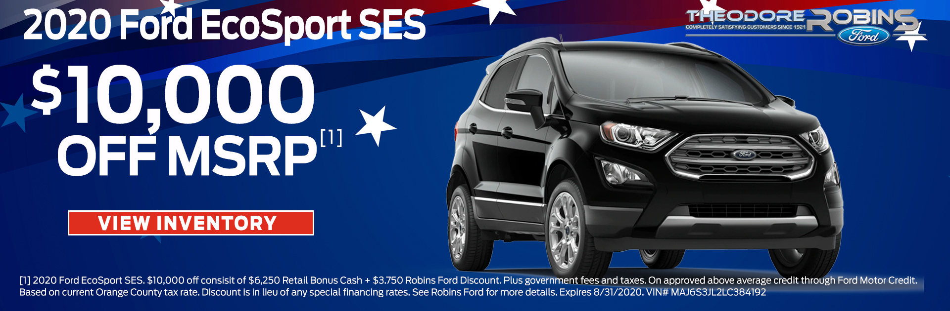 Robins Ford 2020 Ford Ecosport Ses August 1