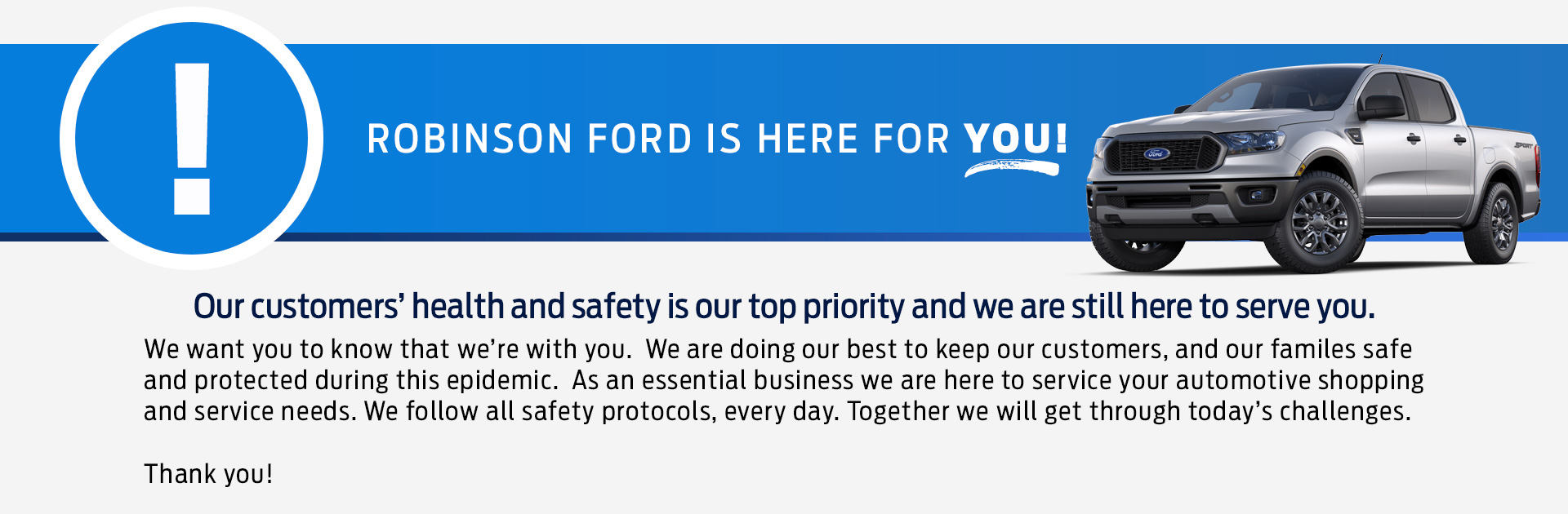 Robinson Ford Covid Hero