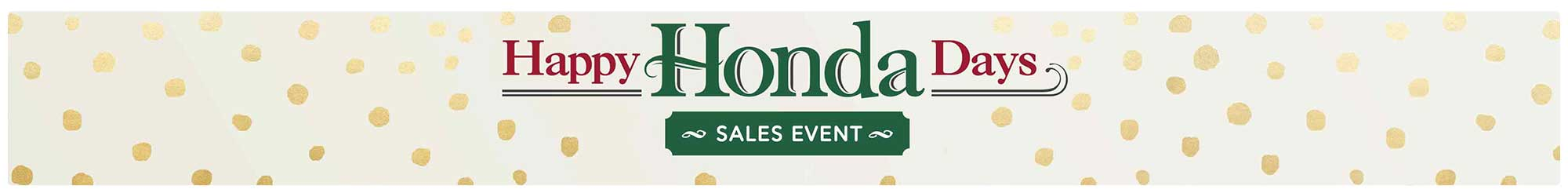 Happy Honda Days Inventory Banner