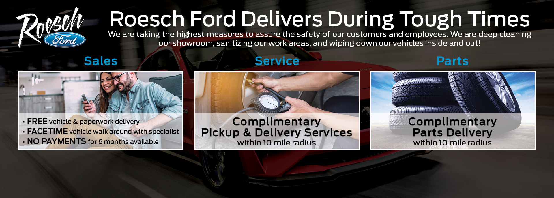 New Ford Cars, Trucks, and SUV Deliveries and Online Orders | Roesch Ford