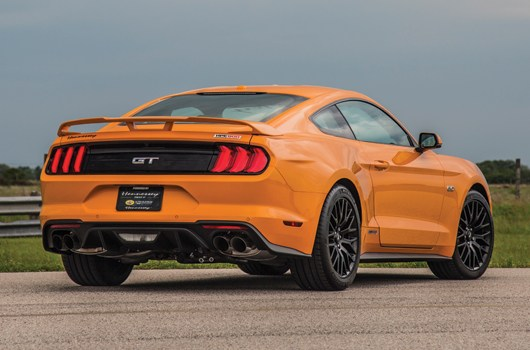 2019 Ford Mustang Rear Exterior Orange