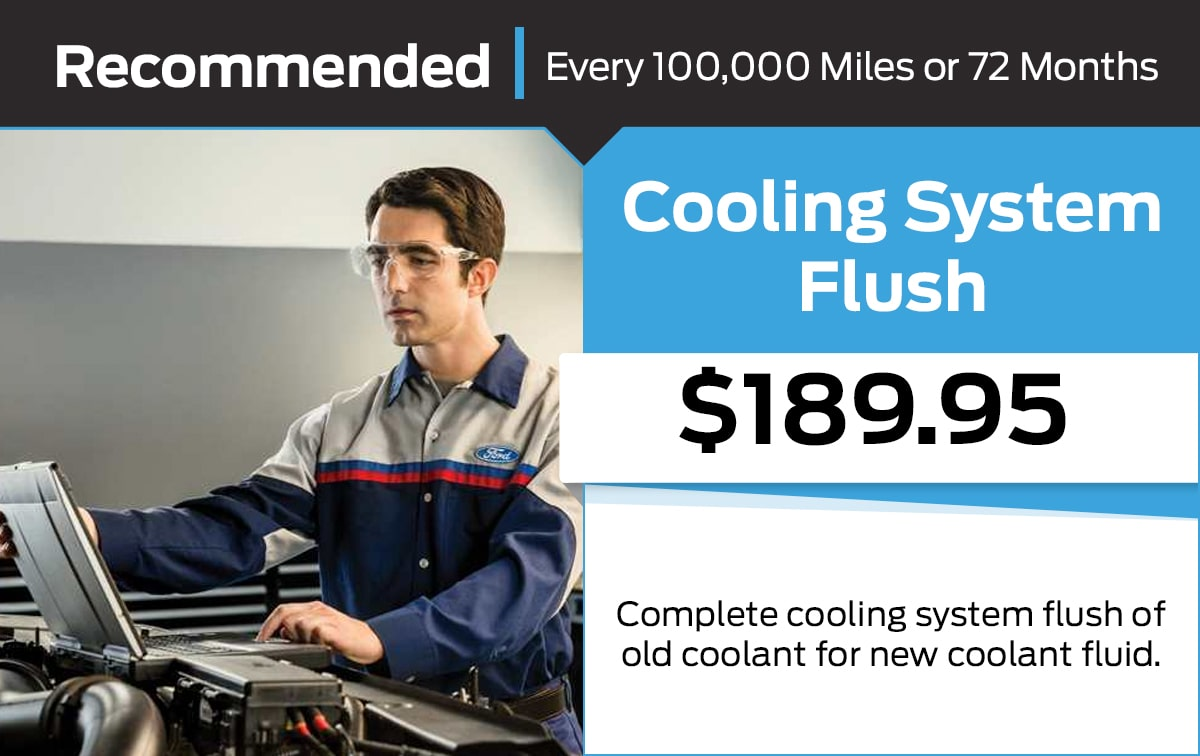 Ford Cooling System Flush Service Special Coupon