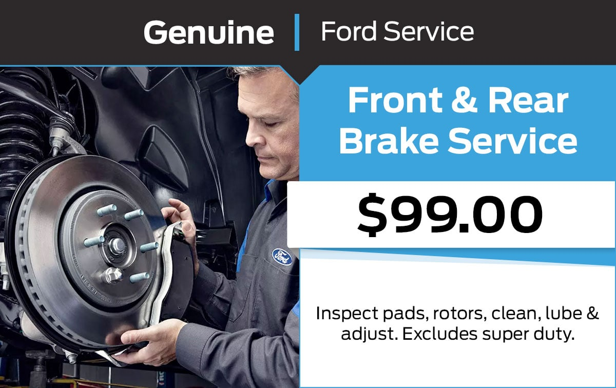 Ford Front & Rear Brake Service Special Coupon