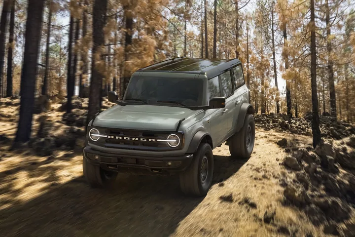 The 2021 Ford Bronco in Sand