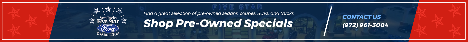 Preowned Specials Srp Banner